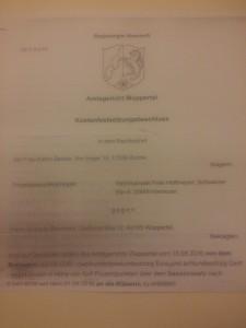 Kostebnfestsetzungsbeschluss