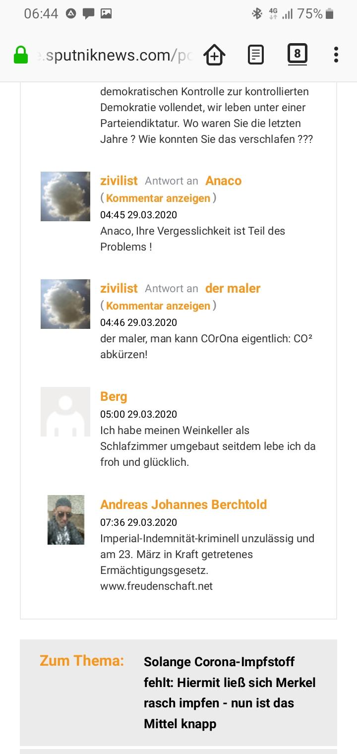 Besucherumfrage Firefox