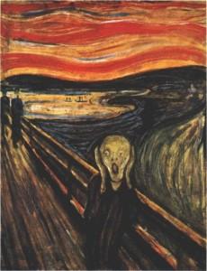 Edvard Munch, Der Schrei (Angst und Apoklaypse, Seelenmalerei)